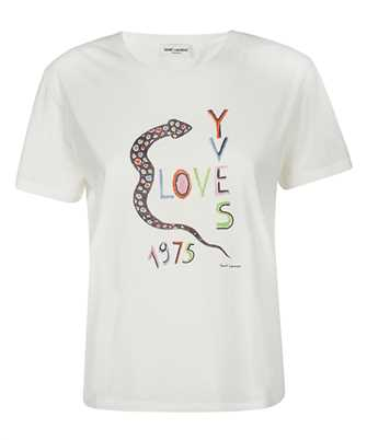 Saint Laurent 614271 YBRR2 LOVE YVES 1975 T-shirt