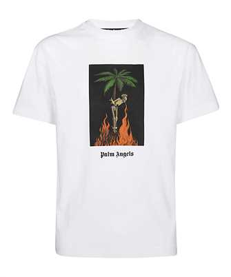Palm Angels PMAA001R20413026 BURNING SKELETON T-shirt