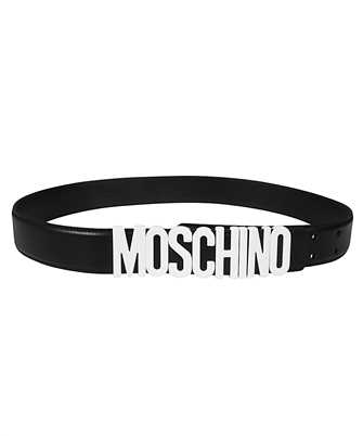 Moschino 8014 8001 LEATHER LOGO Belt