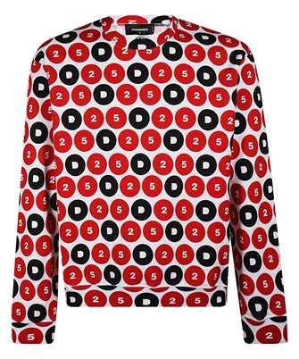 Dsquared2 S78GU0044 S25490 D25 FULL PRINT Sweatshirt