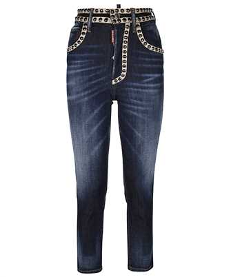 Dsquared2 S75LB0472 S30685 STUDDED DARK WASH HIGH WAISTED TWIGGY Jeans