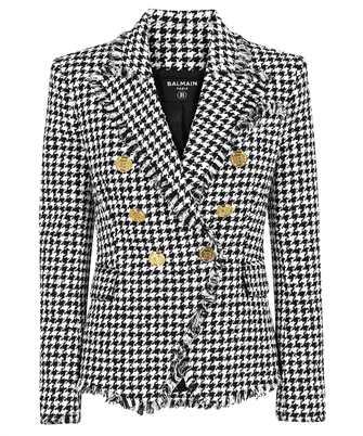 Balmain WF1SG000C299 HOUNDSTOOTH TWEED Jacket
