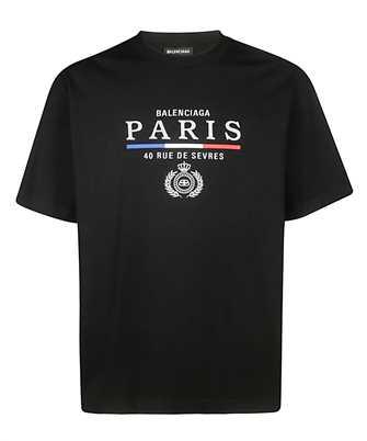 Balenciaga 594579 TGV48  PARIS FLAG T-shirt