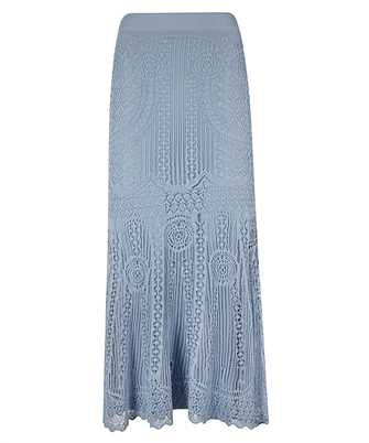 Alexander McQueen 650279 Q1ASE PATCHWORK LACE KNITTED Skirt