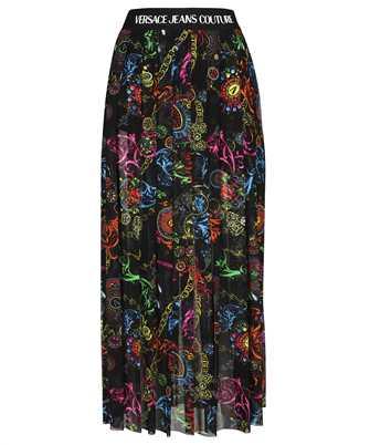 Versace Jeans Couture 71HAE812 JS010 REGALIA BAROQUE PRINT TULLE MIDI Skirt