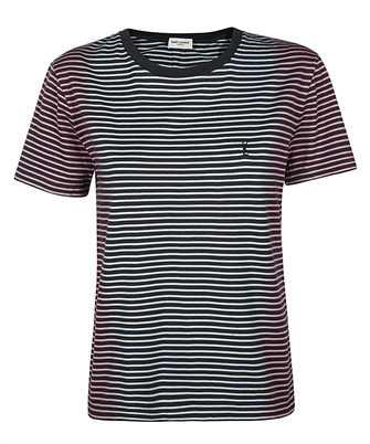 Saint Laurent 644057 YBYQ2 TIE-DYE STRIPED MONOGRAM T-shirt