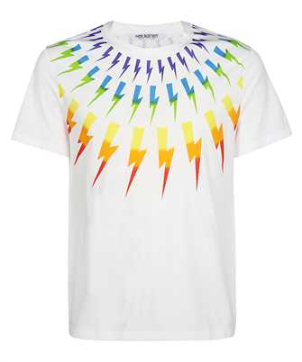 Neil Barrett BJT725S-N502P FAIR-ISLE THUNDERBOLT T-shirt