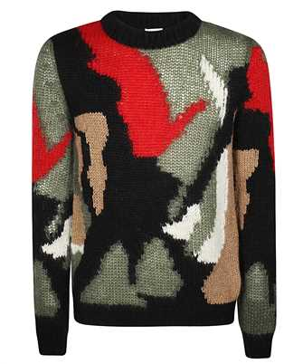 Saint Laurent 627313 YAQR2 CAMO PRINT Knit