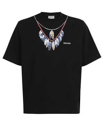 Marcelo Burlon CMAA054S21JER002 DOUBLE CHAIN FEATHERS T-shirt