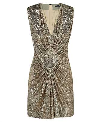 Balmain VF16095X444 SLEEVELESS GATHERED SEQUINED Dress