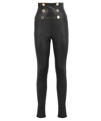 Balmain VF15887L067 STRETCH LEATHER SKINNY Trousers