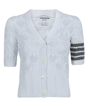 Thom Browne FKC366A Y3003 FAN CABLE SS V-NECK Cardigan