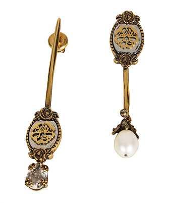 Alexander McQueen 617649 I153T ASSYMETRIC SIGNATURE Earrings