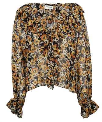 Saint Laurent 649040 Y5C54 FLORAL SILK GEORGETTE Shirt