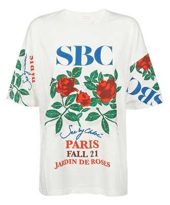 See By Chloè CHS21AJH20110 ROSE PRINT OVERSIZED T-Shirt