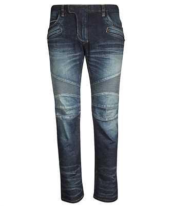 Balmain RH15258D008 TAPERED BIKER Jeans