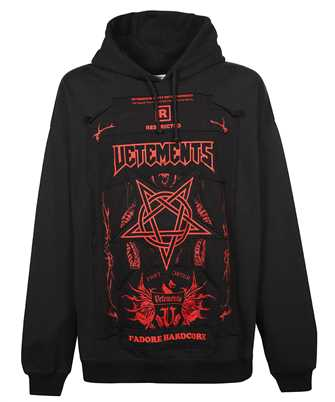 Vetements UA52TR915R HARDCORE PATCHED LOGO Hoodie