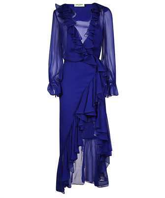 Saint Laurent 633941 Y115W RUFFLED WRAP Dress