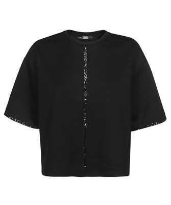 Karl Lagerfeld 216W1711 SEQUIN TAPE T-Shirt