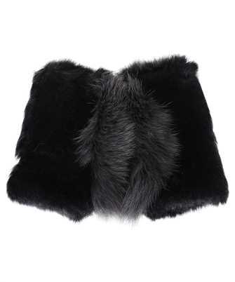 Karl Donoghue CMFCFW1 SHEARLING & SAGA FOX FUR FINGERLESS Gloves