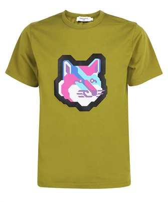 Maison Kitsune HM00120KJ0008 PIXEL FOX HEAD PRINT CLASSIC T-shirt