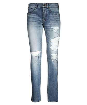 Saint Laurent 551344 YC372 SLIM FIT BIG HOLES Jeans