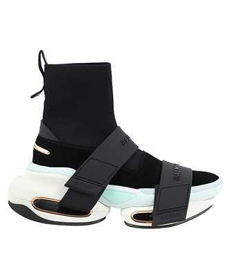 Balmain UN1C540TKSU B BOLD STRAP-SUEDE Sneakers