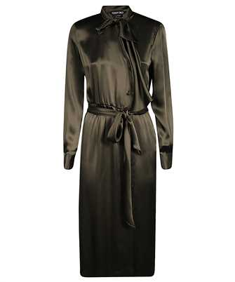 Tom Ford AB2868 FAX727 FLUID SATIN BELTED Dress