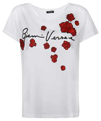 Versace A87466 A228806 EMBROIDERED ROSES T-shirt