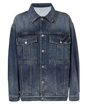 Givenchy BW00BU50LD CHAIN-DETAIL OVERSIZED DENIM Jacket