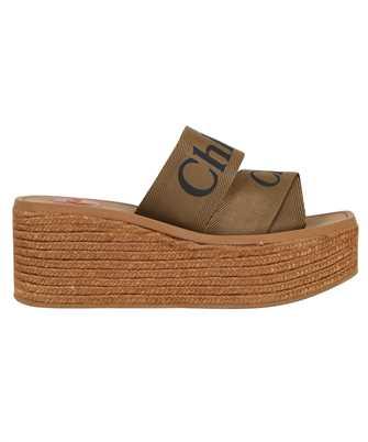Chloé CHC21U44908 WOODY WEDGE MULE Sandals