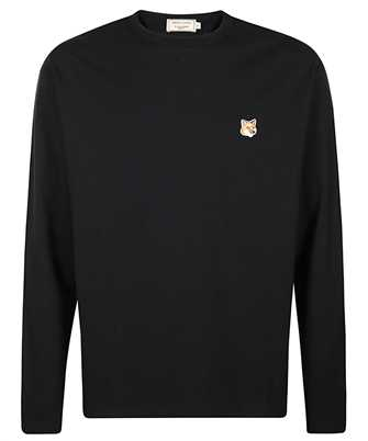 Maison Kitsune FU00163KJ0010 FOX HEAD PATCH REGULAR LONG-SLEEVED T-Shirt