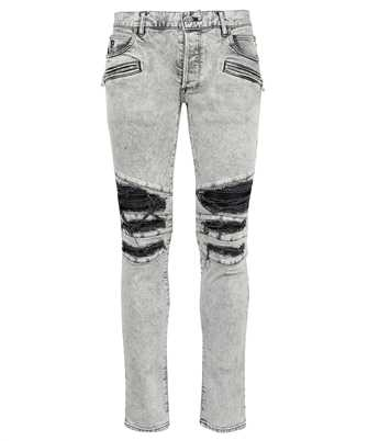 Balmain WH1MG010147D RIBBED PATCHES SLIM Jeans
