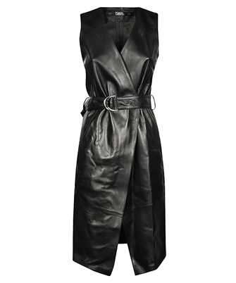 Karl Lagerfeld 201W1904 LEATHER WRAP Dress