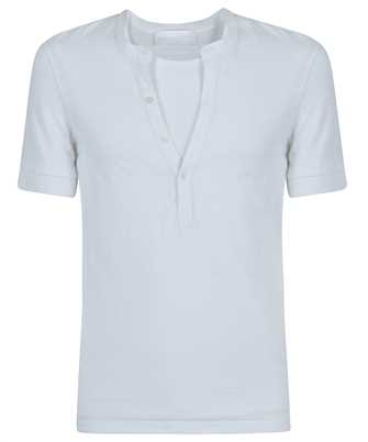 Neil Barrett PBJT886 Q521S TRAVEL HYBRID HENLEY T-shirt