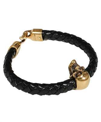 Alexander McQueen 554602 J16KG SKULL LEATHER Bracelet