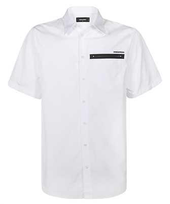 Dsquared2 S74DM0475 S36275 POPLIN SHORT SLEEVE RUBBER SLASH Shirt