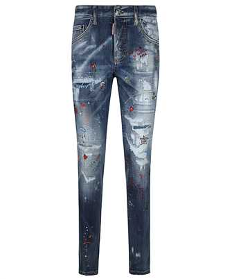 Dsquared2 S75LB0490 S30708 TRASH LIGHT WASH SKINNY DAN Jeans