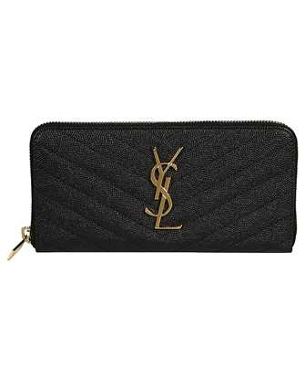 Saint Laurent 358094 BOW01 MONOGRAM ZIP AROUND Wallet