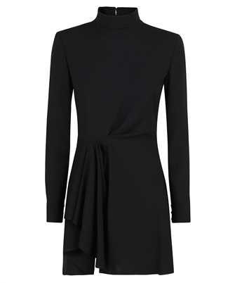 Saint Laurent 661406 Y012W LAVALLIERE-NECK DRAPED Dress