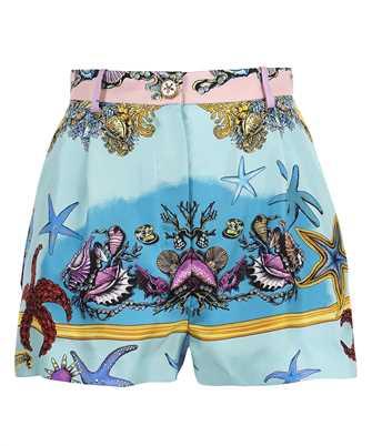 Versace A85704 1F00905 TRÉSOR DE LA MER PRINT SILK Shorts