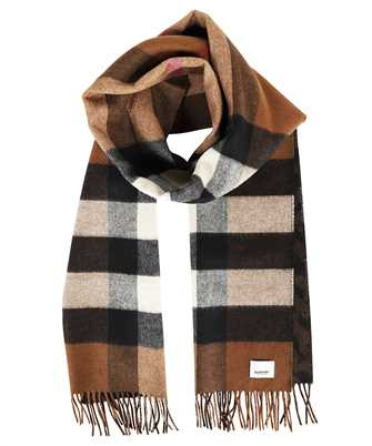 Burberry 8045178 REVERSIBLE CHECK AND MONOGRAM CASHMERE Scarf