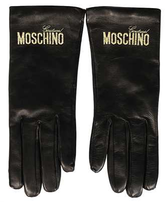 Moschino M2394 LEATHER LOGO Gloves