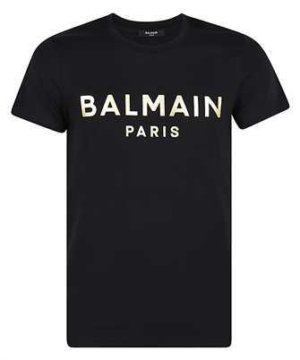 Balmain VH1EF000B065 GOLD FOIL LOGO T-Shirt