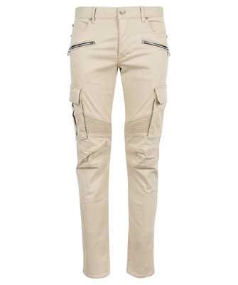 Balmain WH1MH015150D B EMBOSSED CARGO TAPERED Jeans
