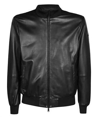 Emporio Armani 01B51P 01P50 LAMBSKIN NAPPA LEATHER Jacket