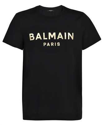 Balmain VH0EF000B065 GOLD FOIL LOGO T-Shirt