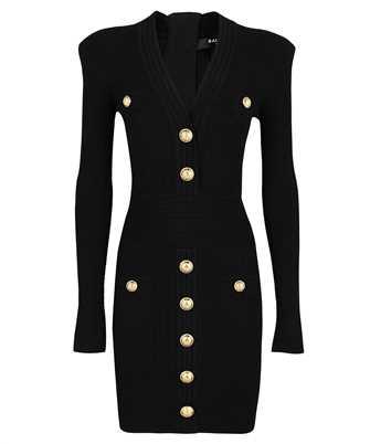 Balmain WF1R8060K211 BUTTONED KNIT Dress