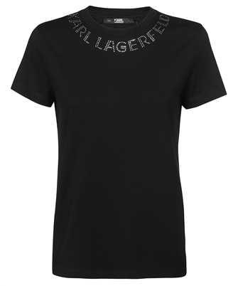 Karl Lagerfeld 216W1704 RHINESTONE KARL LOGO T-shirt