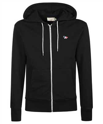 Maison Kitsune AM00304KM0001 TRICOLOR FOX PATCH ZIP Felpa